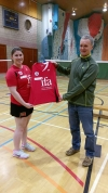 Orkney IFA presenting the new A team strip