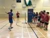 Orkney junior squad members with Tom Lambert, Badminton Scotland Coach